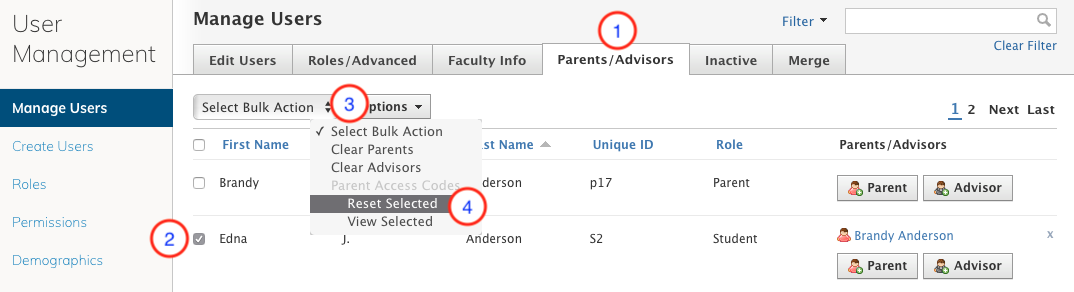 How to Reset Parent Access Codes – Schoology Support