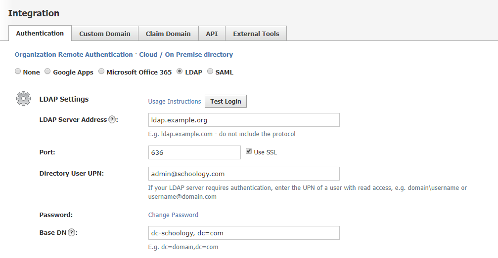 LDAP (Enterprise) – Schoology Support