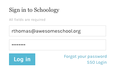 Login – Schoology Support