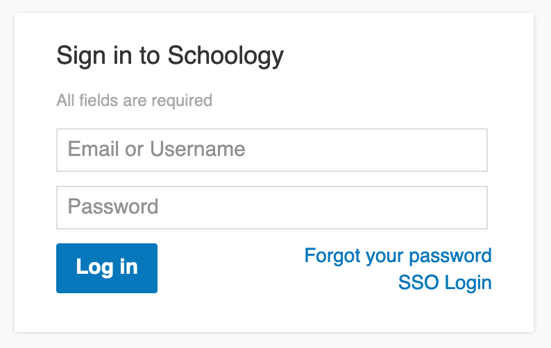Login Students Schoology Support