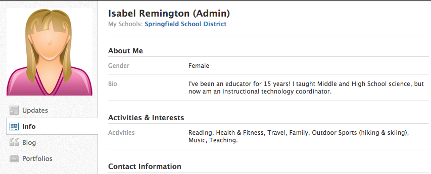 how to change profile picture on schoology