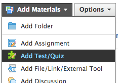 Course Materials: Tests/Quizzes – Schoology Support